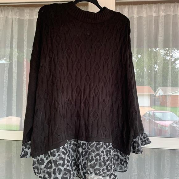 Worthington Sweaters - Mock Neck Long sleeve Animal leopard Cheetah